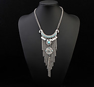 European Style Fashion Coin Tassel Necklace