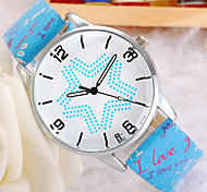 Ladies Watch Beautiful Fashion Star Love Master Quartz Watch Belt Table Trend
