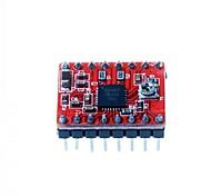 3d impressora motor de passo a4988 RepRap controlador de 2 pinos soldada placa vermelha