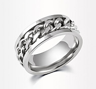 The Fashion Stainless Steel Chain Rotatable Ring