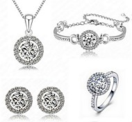 Jewelry Necklaces / Earrings / Rings / Bracelets & Bangles Jewelry set Imitation Diamond AdjustableAnniversary / Birthday /