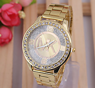 Woman's Watches Steel Tape Suit Fashion Female Gold Watch