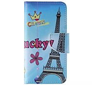 Cartoon Eiffel Tower Pattern Cell Phone Leather For iPhone 6/6S