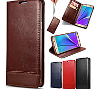High-end Splice Lanyard Genuine Leather Phone Case for Samsung Galaxy S6/S6 Edge/S6 Edge Plus(Assorted Colors)