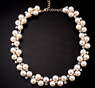 European Style Fashion Exquisite Rhinestone Pearl Necklace