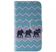 Black Elephant Painted PU Phone Case for Galaxy Grand Prime/Core Prime/J5/J1/J1 Ace/J2
