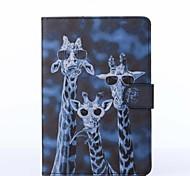 verrückt Hirsche Muster PU-Leder Ganzkörper-Fall mit Ständer für iPad Mini 1/2/3