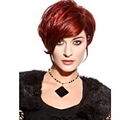 Woman's Straight Red Color Short Synthetic Wigs