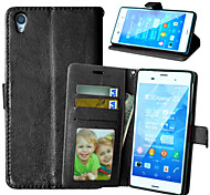 Crazy Horse PU Leather Stand Case Cover with Card Slots for Sony Xperia  Z3 D6603 D6653 (Assorted Colors)