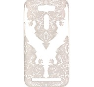 For Asus Case Transparent / Pattern Case Back Cover Case Lace Printing Soft TPU ASUS