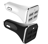 Charge 4 Port USB Car Charger Adapter for iPad/Apple Android Mobile Phone 5V 6.8A