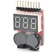 Batteria di lipo allarme di bassa tensione 2-in-1 1 ~ 8s buzzer per l'elicottero del rc