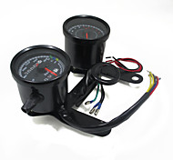 Universal Motorcycle Tachometer Odometer Speedometer Gauge LED Indicator with Bracket