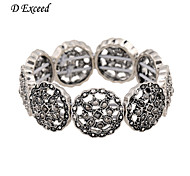 D Exceed Women Bracelets Silver Fashion Elasticity Design Wide Bracelet Free Shipping