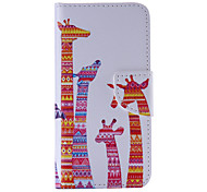 The New  Giraffe PU Leather Material Flip Card Cell Phone Case for iPhone 6 /6S