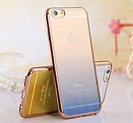caso ultra suave célula de recubrimiento de material TPU transparente gradual cambio de teléfono para el iphone 6 / 6s (colores surtidos)