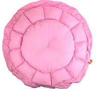 Retractable Round Shaped Dog Cat Pet Nest Bed Pink Size-S