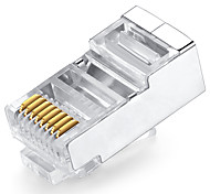 50pcs 8p8c enchufe cat5e enchufe rj45 shengwei®rc-3050 para la interfaz de conexión a Internet