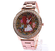 Woman's Watches Burst Money Fashion Woman Rose Gold Watch