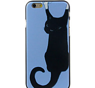 um gato preto de alta qualidade e bom estojo rígido padrão de preço para iphone 6 / 6s
