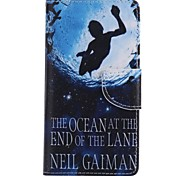 Swimming Painted PU Phone Case for Huawei P8 Lite/P8