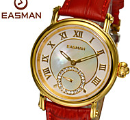 EASMAN Genuine Leather Waterproof Mother of Pearl Dial Ladies Watches Sapphier Glass Waterproof Best Watches for Women