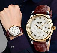 Men's British Style Waterproof Fashion Business Casual Watch Pointer Calendar
