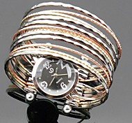 Gold and silver bracelet watch interleaving