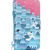 The New Snow Strange Lanyard PU Leather Material Flip Card Cell Phone for iPod Touch 5/6