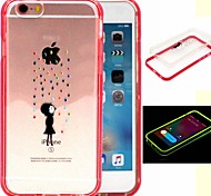 2-in-1 The Rain A Kid Pattern TPU Back Cover with PC Bumper Shockproof Soft Case for iPhone 6/6S