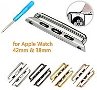 Replacement Stainless Steel Watchband Band Attachment Connector Adapter for APPLE WATCH (2pcs)