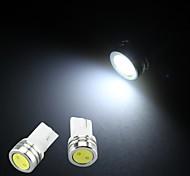 10 x t10 W5W 501 158 coches de la lámpara del bulbo de cuña lado brillante de color blanco puro llevado 12v luz