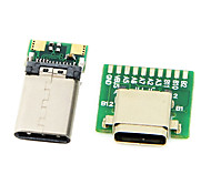 cy® smt usb femmina tipo-c 3.1 (1 pc) e usb tipo maschio-C 3.1 (1 pc) convertitore con connettore pcb (1 set)