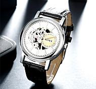 SOXY® New Design Business Precise Black Belt White Surface Watch Fashion Quartz Leather Watch for Men