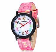 relógio pulseira de couro unisex japão de pulso de quartzo (cores sortidas)