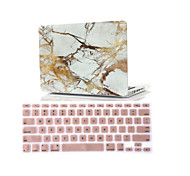 "2 in 1 Marble Rubberized Hard Case Cover +Keyboard Cover for Macbook Air 11""Retina 13""/15"""
