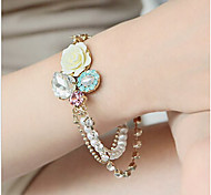 Fashion Jewelry Fresh Crystal Rose Pearl Bracelet