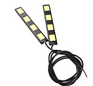 2Pcs 12CM 8W COB 4 LED Car Daytime Running Light Bar DRL Driving Lamp(DC12V)