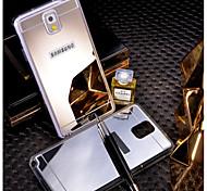caso trasero espejo de acrílico para Samsung noto3 / noto4 / noto5
