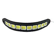 2Pcs Waterproof Flexible Silicon 10 LED 10W COB 26cm 600LM White Light LED Daytime Running Light (DC12V)