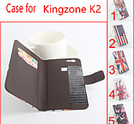 Flip Leather Magnetic Protective Case For Kingzone K2(Assorted Colors)