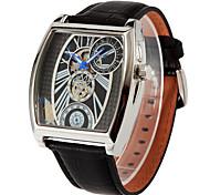 Men Oulm watch Quartz Waterproof Sports Watch Calendar Genuine Leather Wristwatch montre reloj relogio masculino