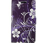 White Flower Painted PU Phone Case for Huawei P8 Lite/P8/P7/Y550/G6