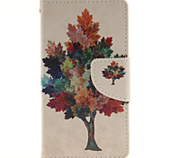 Colour The Tree Design PU Material Cell Phone Case Cover For WIKO Sunset 2