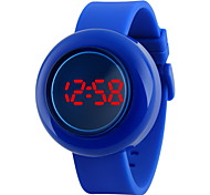 Unisex Push Button Design LED Digital Silicone Watch Cool Watches Unique Watches