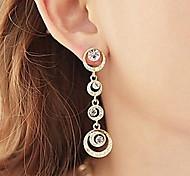 Beautiful Bride Accessories Circle Full Diamond Earrings