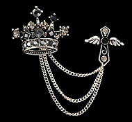 New Arrival Fashion Jewelry Retro Rhinestone Imperical Crown Brooch