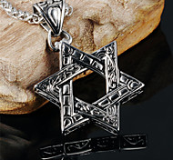 Six-pointed Star Men's Stainless Steel Domineering Necklace
