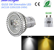 YouOKLight® Dimmable GU10 3W 300LM  Warm White/White 3-High Power High quality LED Spot Light Bulb(AC110-120V/220-240V)
