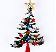 New Arrival Fashion Jewelry Popular Delicate Rhinestone Christmas Tree Brooch